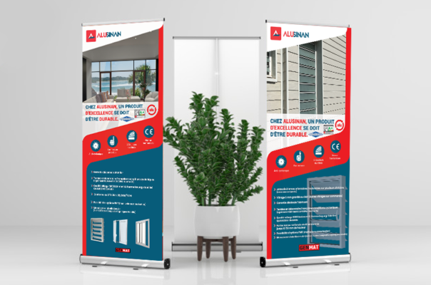Roll-up/pop-up banners for business - Lakssya web and e-marketing agency