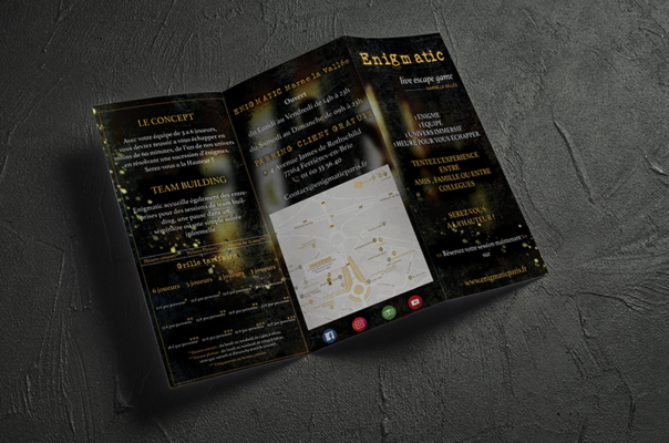 Lakssya produces leaflets and flyers for companies
